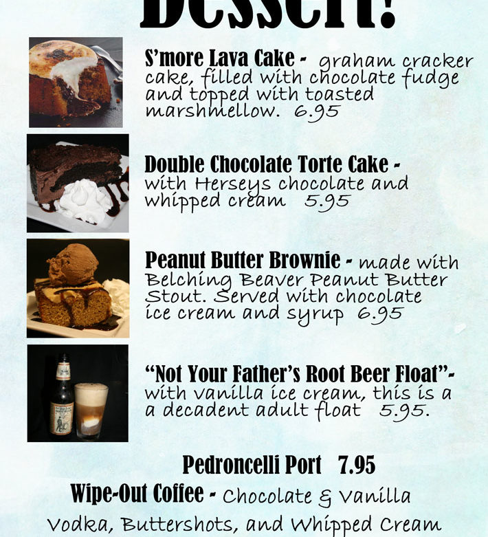 Updated Desserts and Specialty Drinks