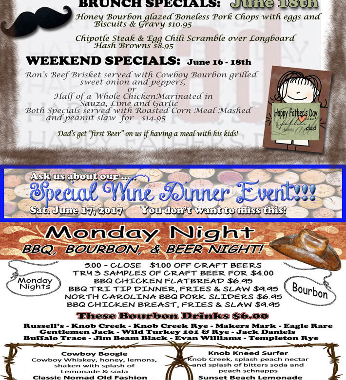 Father's Day Specials - Brunch
