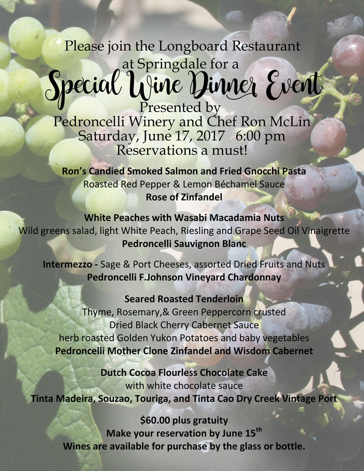 Special Wine Dinner Event – June 17th
