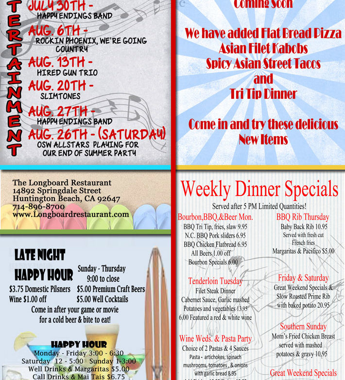 July and August Events at The Board