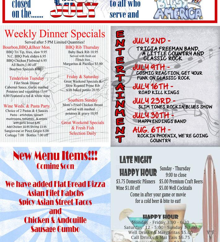 july schedule and schedules longboard restaurant