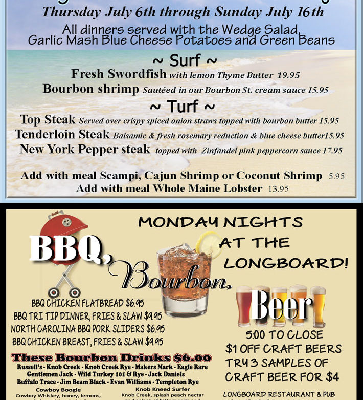 Surf and Turf, BBQ, Bourbon and Beer!