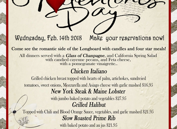 Spend Valentines Day at the Longboard