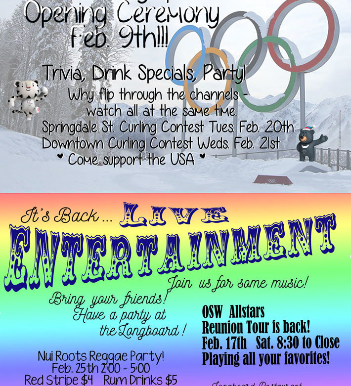 Celebrate the Winter Olympics with Trivia, Drinks and Specials